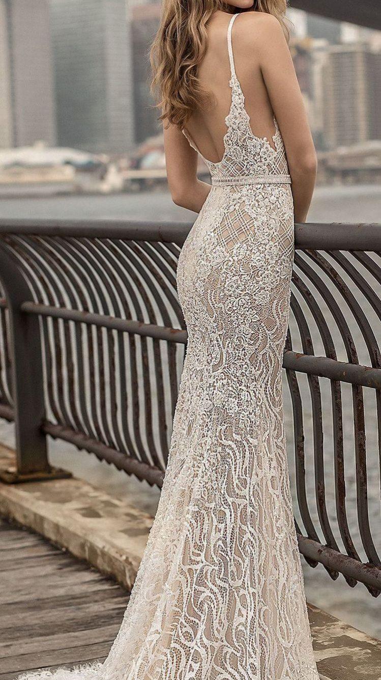 vestido de noiva com decote estilo sereia
