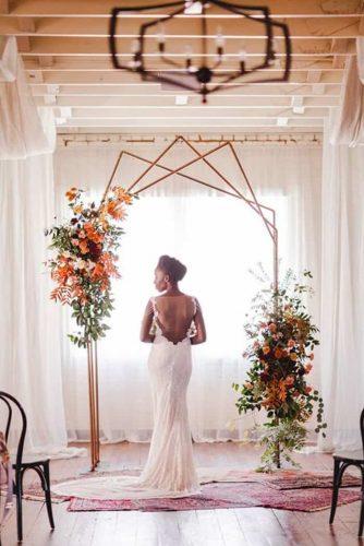 arco assimétrico para casamento
