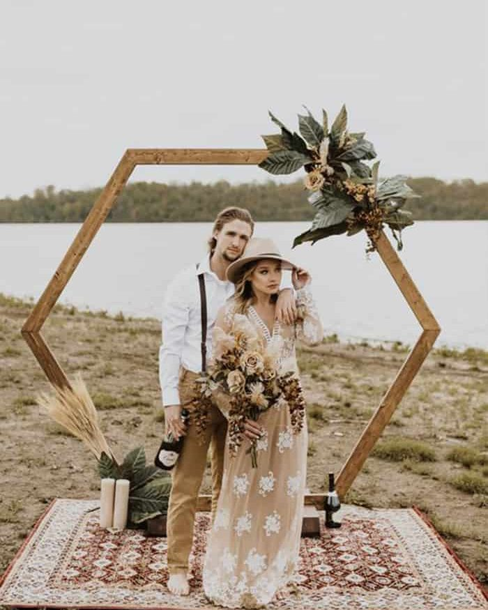 arco para altar de casamento
