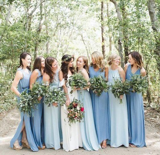 vestidos de madrinhas na cor azul serenity