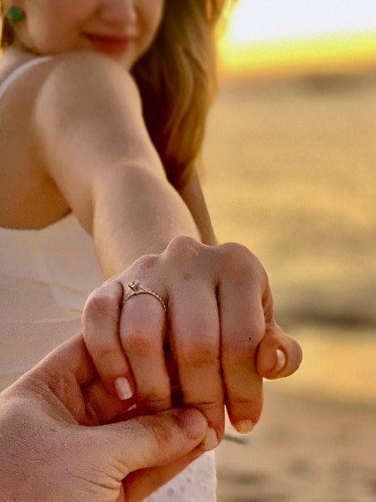 pedido na Bahia com anel de noivado